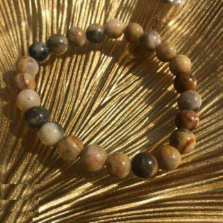 Bracelet en Agathe Crazy Lace Perles 8mm - Perle