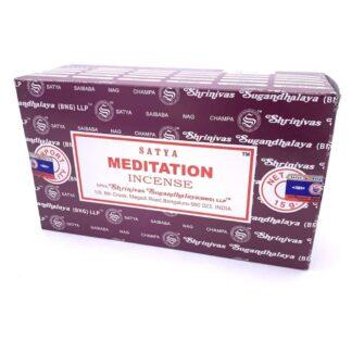 12 x Encens Satya méditation 15g