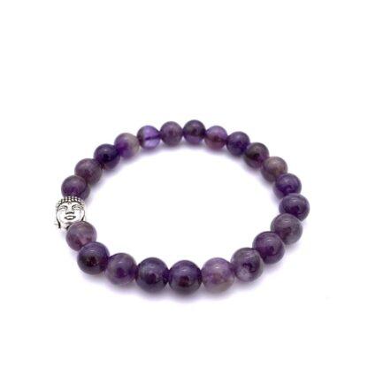 bracelet perle amethyste buddha