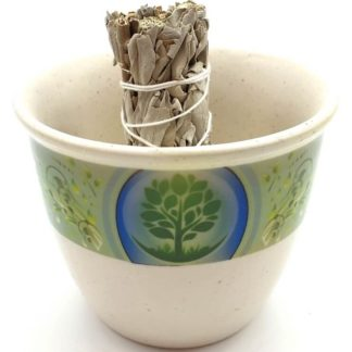 Bol de fumigation céramique arbre de vie