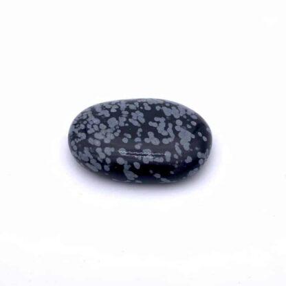 Pierre obsidienne flocons de neige